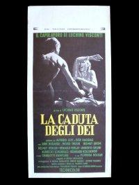 イタリア 映画 アンティークポスター La Caduta degli dei(1969) 地獄に堕ちた勇者ども ルキノ・ヴィスコンティ 33 x 70 cm