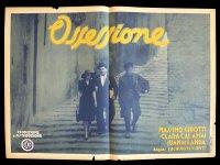 イタリア 映画 アンティークポスター Ossessione (1942年) 郵便配達は二度ベルを鳴らす ルキノ・ヴィスコンティ 50 x 70 cm manifesti