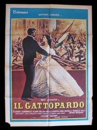 イタリア 映画 アンティークポスター Il gattopardo (1963年) 山猫 ルキノ・ヴィスコンティ 100 x 140 cm manifesti