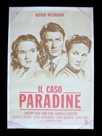 イタリア 映画 アンティークポスター Il caso Paradine (1947年) パラダイン夫人の恋 アルフレッド・ヒッチコック アリダヴァリ 100 x 140 cm manifesti