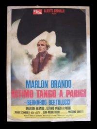 【希少】イタリア 映画 アンティークポスター Ultimo tango a Parigi (1972年) ラストタンゴ・イン・パリ ベルナルド・ベルトルッチ 100 x 140 cm manifesti