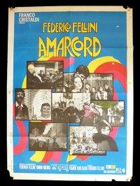イタリア 映画 アンティークポスター Amarcord (1973年) フェリーニのアマルコルド  フェデリコ フェリーニ 100 x 140 cm manifesti