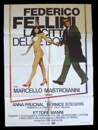 イタリア 映画 アンティークポスター La citta' delle donne (1980年) 女の都 フェデリコ・フェリーニ マルチェロ・マストロヤンニ  100 x 140 cm manifesti