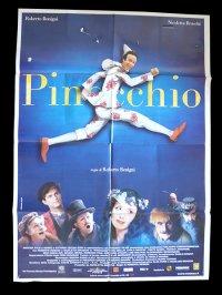 イタリア 映画 アンティークポスター Pinocchio (2002年) ピノッキオ ピノキオ ロベルト・ベニーニ ニコレッタ・ブラスキ ゴールデンラズベリー賞  100 x 140 cm manifesti