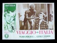 イタリア 映画 アンティークポスター Viaggio in Italia (1954年) イタリア旅行 ロベルト・ロッセリーニ イングリッド・バーグマン 30 x 50cm FOTO BUSTE