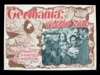 イタリア 映画 アンティークポスター Germania anno zero(1948年)ドイツ零年 ロベルト・ロッセリーニ  30 x 40cm FOTO BUSTE