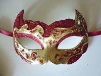 イタリア ヴェネツィア カーニバル マスク ガット 猫 【カラー・レッド】