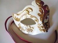 イタリア ヴェネツィア カーニバル マスク NIGHT AND DAY 【カラー・パープル】【カラー・ワイン】
