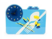 2柄展開 BARILLA 壁掛け時計 40 x 30cm バリッラ【カラー・ブルー】【カラー・イエロー】【カラー・マルチ】
