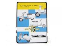 3色展開 LAMBRETTA 万年カレンダー ランブレッタ【カラー・マルチ】【カラー・レッド】【カラー・ブルー】