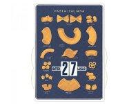 万年カレンダー イタリアンパスタ ブルー PASTA ITALIANA BLU - イタリア インテリア【カラー・ブルー】【カラー・イエロー】