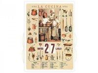 万年カレンダー キッチン LA CUCINA - イタリア インテリア【カラー・イエロー】【カラー・マルチ】