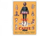万年カレンダー コーヒー CAFFE' - イタリア インテリア【カラー・オレンジ】【カラー・マルチ】