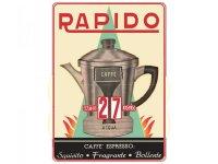 万年カレンダー エスプレッソコーヒー モカ CAFFE' RAPIDO - イタリア インテリア【カラー・レッド】【カラー・マルチ】