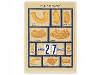 万年カレンダー イタリアンパスタ ホワイト PASTA ITALIANA BIANCA - イタリア インテリア【カラー・ホワイト】【カラー・イエロー】