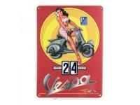 万年カレンダー ヴェスパ VESPA - PIN UP ROSSA - イタリア インテリア【カラー・イエロー】【カラー・ブルー】