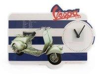 4柄展開 VESPA 壁掛け時計 ヴェスパ【カラー・ブルー】【カラー・レッド】【カラー・マルチ】