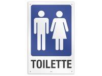 イタリア語表記  お手洗い Toilette uomo/donna 20 x 31 cm 【カラー・ブルー】【カラー・ホワイト】