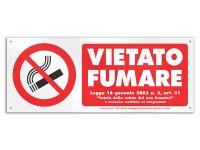 イタリア語表記  禁煙 VIETATO FUMARE 30 x 12 cm 【カラー・レッド】【カラー・ホワイト】