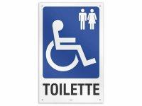 イタリア語表記  お手洗い Toilette disabili uomo/donna 20 x 30 cm 【カラー・ブルー】【カラー・ホワイト】