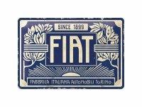 【数量限定】アンティーク風 サインプレート Fiat 20 x 30 cm【カラー・ブルー】