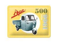 【数量限定】アンティーク風 サインプレート Ape-500 Since 1966 decorato 15 x 20 cm【カラー・イエロー】