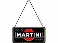 【数量限定】アンティーク風 サインプレート Martini- Served Here 10 x 20 cm【カラー・ブラック】