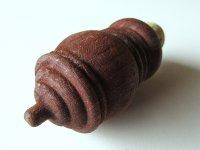 【一点限り】イタリア Valle d'Aosta(ヴァッレ・ダオスタ州)の手作り一点もの Grolla(グロッラ) 木製ワインキャップ 【カラー・ブラウン】