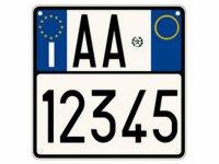 【文字入れ自由】イタリア バイク用ナンバープレート レプリカ【カラー・ホワイト】【カラー・・ブルー】