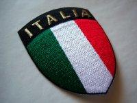 イタリアの刺繍ワッペン ジャケットやジーンズをグレードアップ! 【カラー・グリーン】【カラー・レッド】【カラー・ホワイト】【カラー・ブラック】