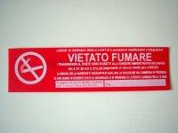 イタリア語表記シール貼付けタイプ  禁煙 VIETATO FUMARE ROSSO 【カラー・レッド】【カラー・ホワイト】