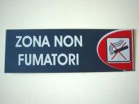 イタリア語表記シール貼付けタイプ 禁煙所 ZONA NON FUMATORI 【カラー・レッド】【カラー・ホワイト】【カラー・ブルー】