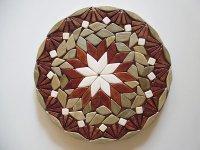 ロシア製 両面使える鍋敷き 手作りの美しさ 【カラー・ブラウン】