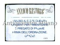 イタリア語パネル 忘れたい事があってお酒を飲まれる方は… ANTICO RISTRO【カラー・イエロー】