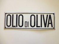 【一点限り】アンティーク サインプレート OLIO DI OLIVA【カラー・ブラック】【カラー・ホワイト】