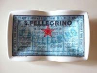 イタリア Sanpellegrino サンペッレグリーノ アンティークアッシュトレー 灰皿【カラー・ホワイト】【カラー・ブルー】