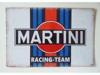 【数量限定】アンティーク風 サインプレート MARTINI RACING-TEAM【カラー・ブルー】【カラー・レッド】【カラー・ブラック】