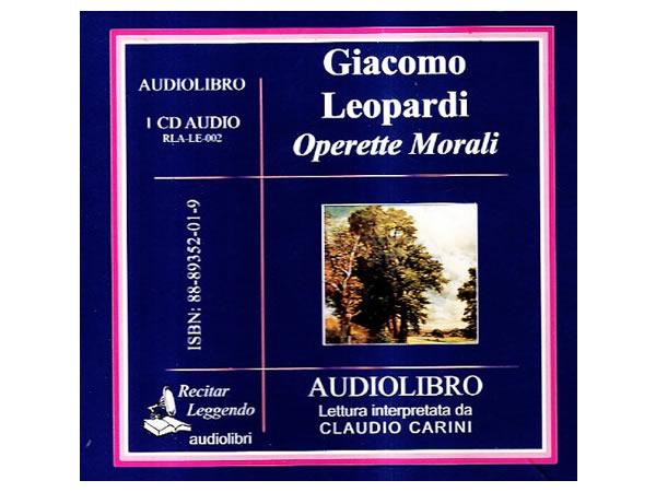 画像1: CD オーディオブック ジャコモ・レオパルディの「オペレッテ・モラーリ」 【C1】
