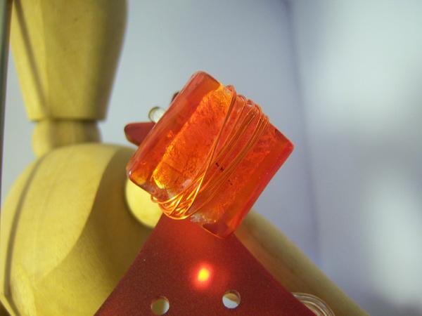 画像1: 可愛い大人のイメージに リング・指輪 【カラー・レッド】【カラー・オレンジ】