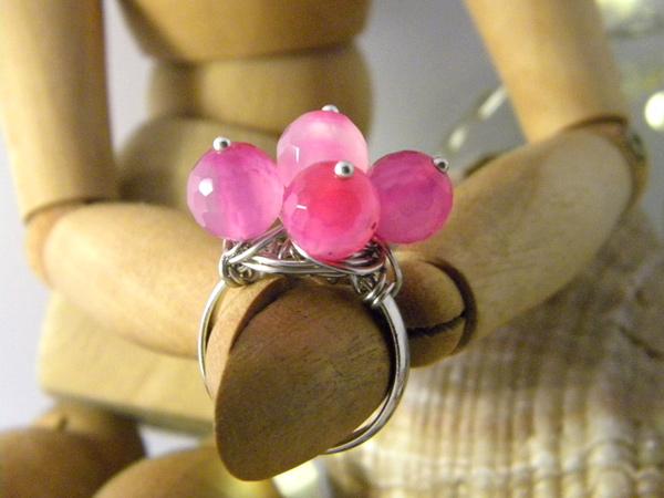 画像1: 可愛い&どこか懐かしい リング・指輪 【カラー・ピンク】