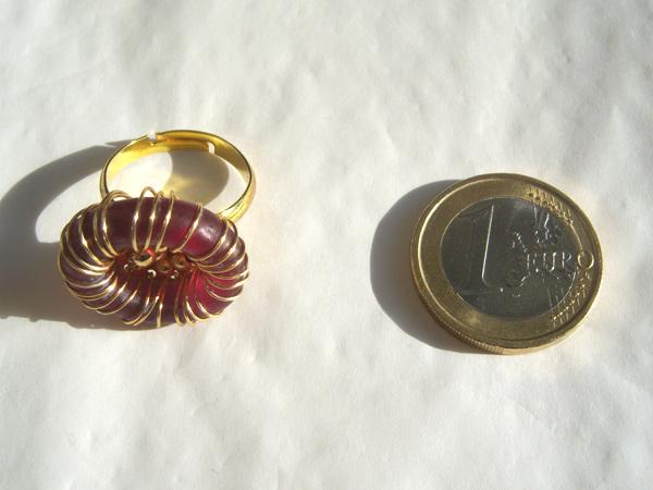 画像3: アンティーク感漂う リング・指輪 【カラー・ワイン】