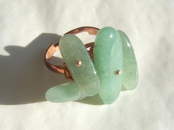 画像2: さりげなくゴージャス リング・指輪 【カラー・グリーン】