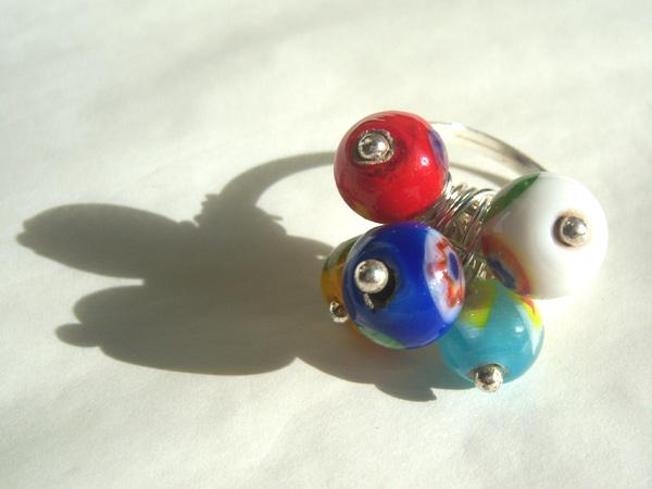画像2: イタリアらしい色使い リング・指輪 【カラー・ブルー】