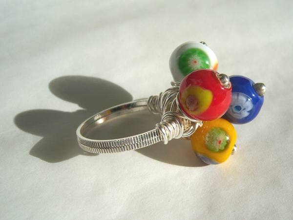 画像4: イタリアらしい色使い リング・指輪 【カラー・ブルー】