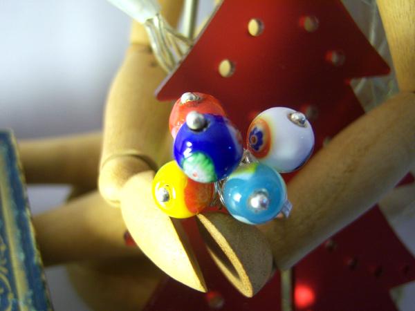 画像1: イタリアらしい色使い リング・指輪 【カラー・ブルー】