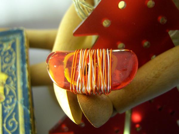 画像1: 大人カジュアルに リング・指輪 【カラー・レッド】【カラー・オレンジ】
