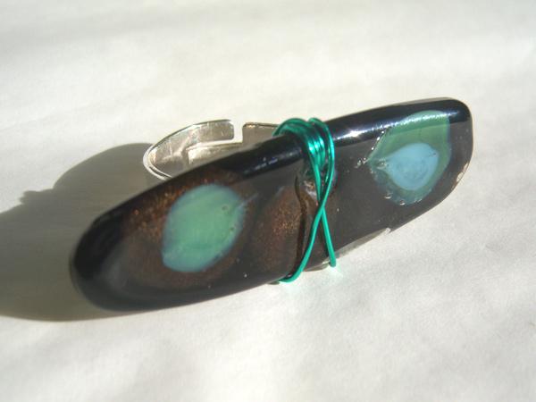 画像2: シンプルな装いにぴったり リング・指輪 【カラー・ブラック】【カラー・グリーン】