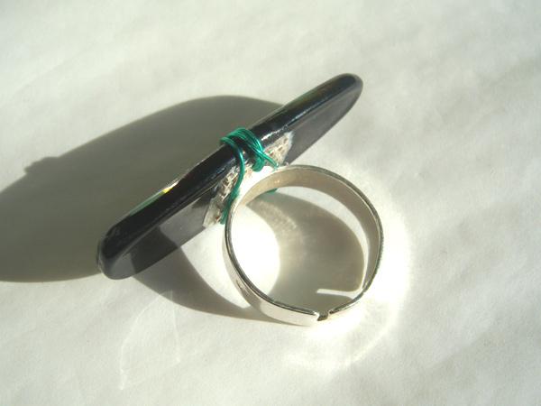 画像4: シンプルな装いにぴったり リング・指輪 【カラー・ブラック】【カラー・グリーン】