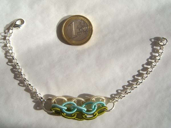 画像3: シンプルで上品。涼しげな印象 ブレスレット 【カラー・グリーン】 【カラー・ホワイト】 【カラー・ブルー】