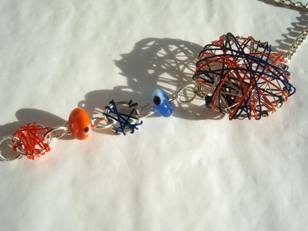 画像1: カラフルな大人の雰囲気 カジュアルに使いたい 【カラー・ブルー】【カラー・オレンジ】